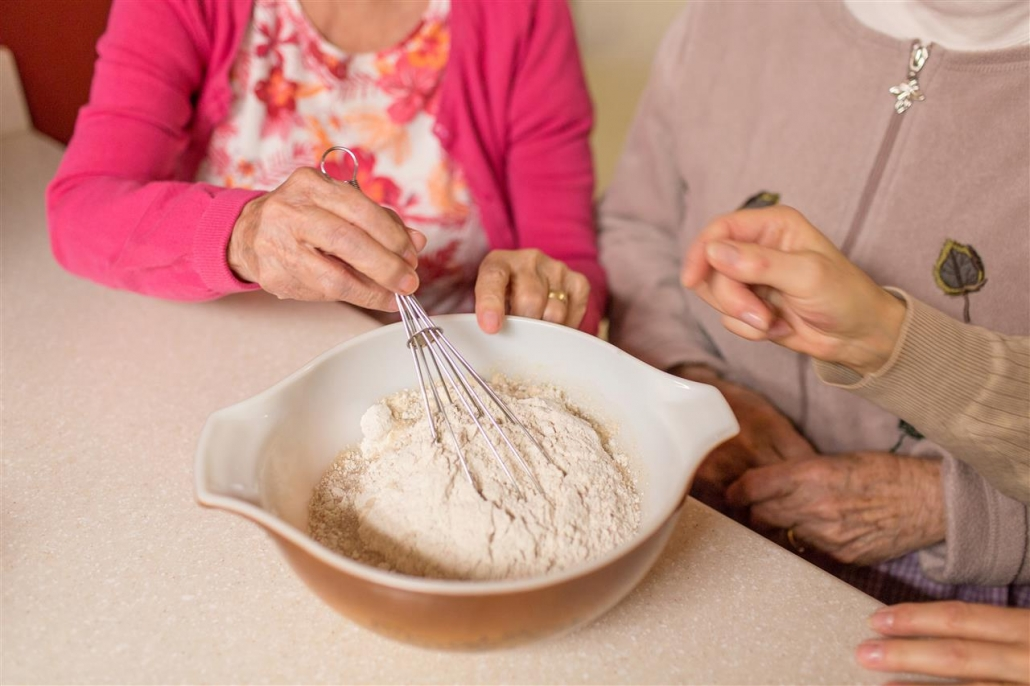 senior ladies baking