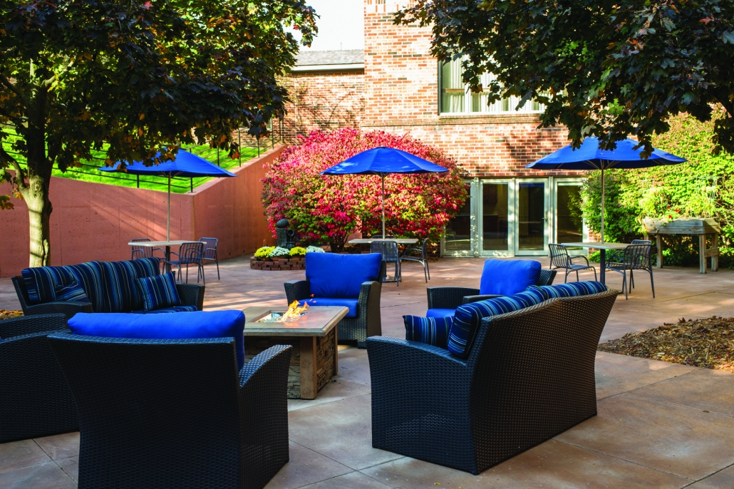 independent living outdoor gathering space