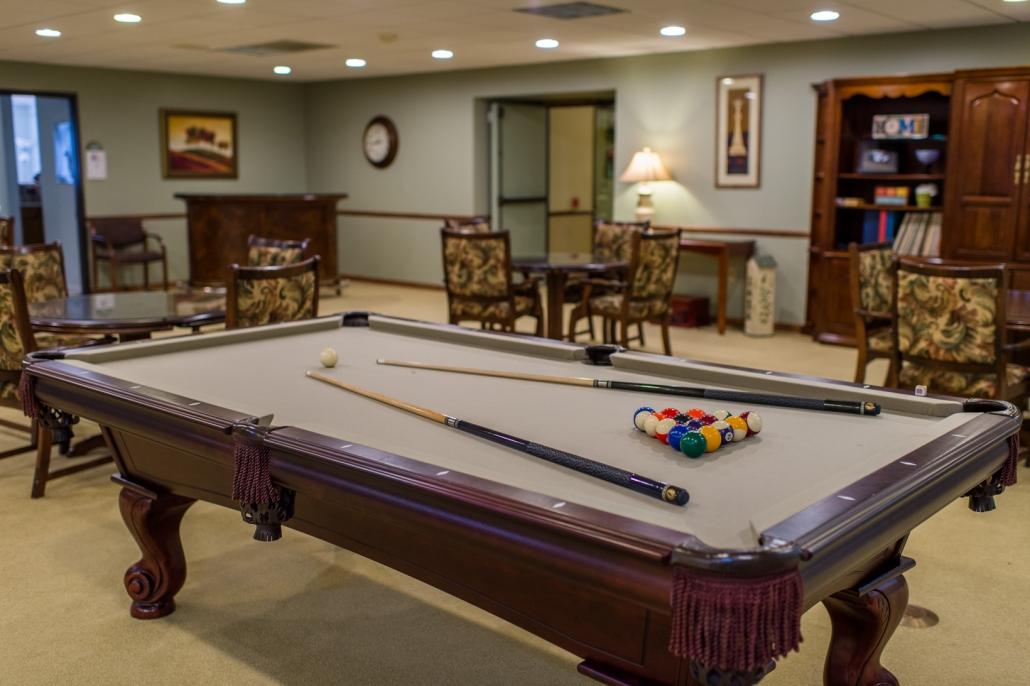 heritage community wyndham apartments billiards room