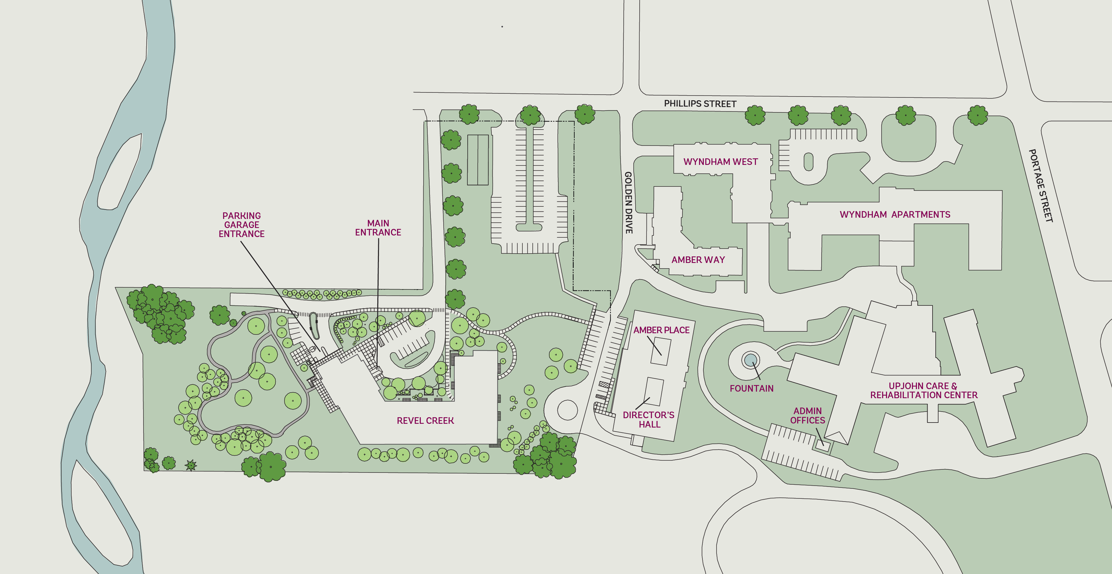 heritage community campus map