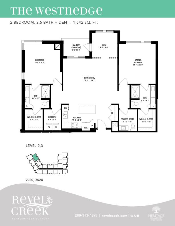 the westnedge floor plan